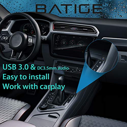 BATIGE BATIGE USB 3.0 & 3.5mm Car Mount Flush Cable 3.5mm + USB3.0 AUX Extension Dash Panel Waterproof Mount Cable for Car Boat and Motorcycle - 3ft