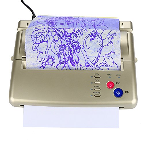 Professionelle Thermodrucker Tattoo Thermokopierer, A4 A5 Tragbare Druckgeräte Schablonen Thermokopierer Drucker Thermotattoo Transfermaschine(EU)