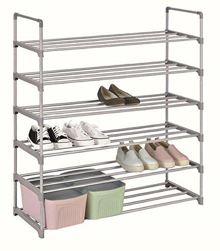 Scarpiera salvaspazio scaffale a 7 ripiani in tessuto impermeabile capacità fino a 28 paia di scarpe scattali portascarpe cabina guarderoba 90x29,5x120 cm
