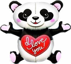 """North Star balón de papel de aluminio 43""""""""-105cm I Love You Panda, Multicolor, 5ns00977-01"""