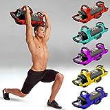 Xn8 Sandsack Gewichtstrainingstasche - verstellbares Gewicht, Fitness-Powerbag mit Griffen und Reißverschluss für Gewichtheben, Powerlifting, Training und Crossfit, schwarz/rot, 10 kg