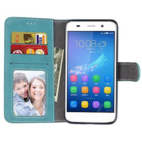 Coque Huawei G7 Plus, Coque G8, Coque GX8, Case Huawei G7 Plus, Housse Huawei G7 Plus, Meet de pour Huawei G7 Plus / G8 / GX8 (5,5 Pouce) Housse de Téléphone en Cuir, coque Portefeuille Case Couvrir P bleu