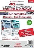 40 Agenti di polizia municipale Comune di Genova. Kit completo. Manuale + quiz commentati
