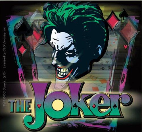 JOKER Batman The Joker With con Logo STICKER ADESIVO, Officially Licensed DC Comic Villain Artwork, 3.75' x 4.25' - Long Lasting Die-Cut Vinyl Sticker DECAL