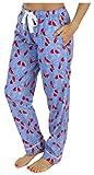 PajamaMania Flanell Pyjama Hose für Damen, Kardinäle (PMF1001-2032-UK-SML)