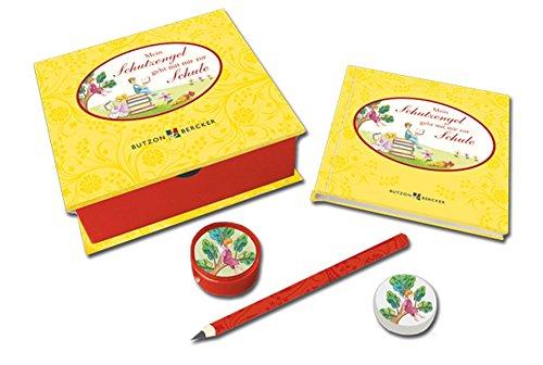 Mein Schutzengel geht mit mir zur Schule: Geschenkbox mit Buch, Stift, Radiergummi und Anspitzer (Mama Und Mir Kostüme)