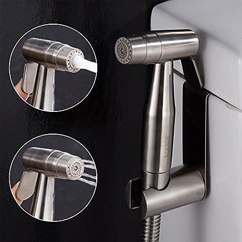 CIENCIA Hand Held Bidet Sprayer Premium Stainless Steel Sprayer Shattaf - Complete Bidet Set for Toilet, Hand Bidet Sprayer for Toilet