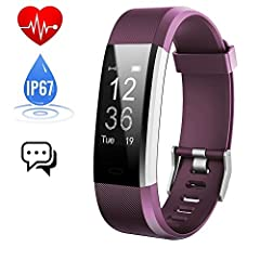 Idea Regalo - Fitness Tracker Cardiofrequenzimetro,Orologio Fitness Contapassi Activity Tracker Impermeabile IP67 Smartband Bracciale Braccialetto Pedometro da Polso GPS Smart Watch per Uomo Donna Android e iOS
