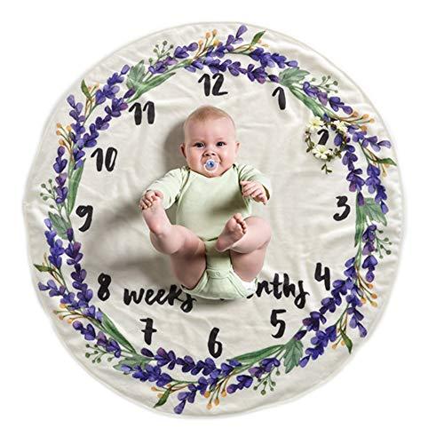 Monatliche Foto Decke Baby Neugeborene Meilenstein Babydecke Foto Hintergrund Decke für Babyfotos Infant Fotografie Wrap Blanket