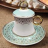 Korkmaz A8635 Freedom Bone Porcelan Türk Kahve takimi Mokka set Cofee cup 12 tlg