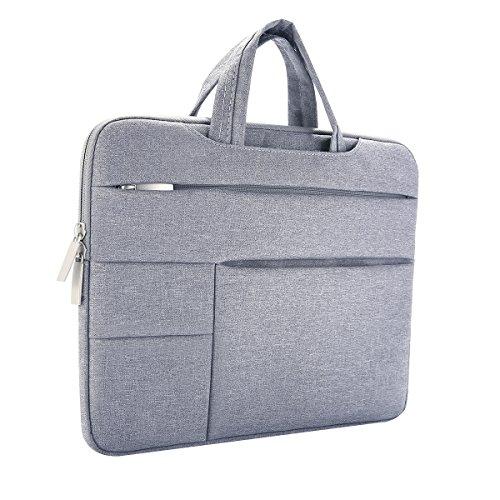 Laptoptasche, ONCHOICE 13-13.3 Zoll Ultra slim tragbares Wasserdicht Stoßfest Notebook Tasche Schutztasche sleeve hülle für Apple Macbook Pro/Surface Laptop/Acer/ Asus/ Dell/ Lenovo/ HP - Grau