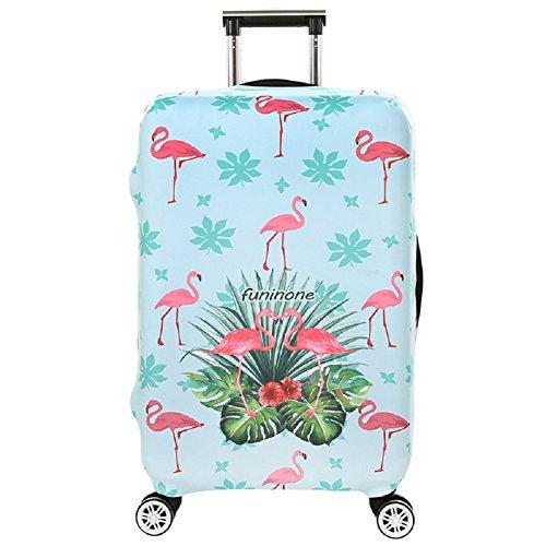 Cubierta de equipaje en Flamingo Form,duradero protector lavable plegable, el tamaño del protector de la maleta se ajusta 18-32 pulgadas (flamenco 3, XL)