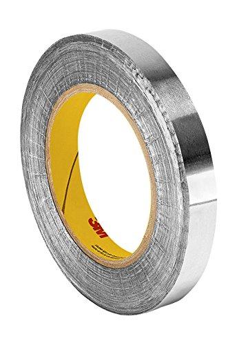 TapeCase 427 Klebeband aus Aluminium/Acryl, 4,4 x 1,9 m, glänzend, silberfarben, umgewandelt von 3M 427, 65-300 Grad F, 0,0046 cm dick, 60 m Länge, 4,4 cm Breite, Rolle
