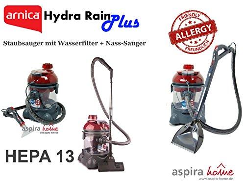 Hydra Rain PLUS - STAUBSAUGER MIT WASSERFILTER UND Waschsauger, Naßsauger, Extrahiergerät, Polsterreiniger - Teppichreiniger in einem HEPA - Ähnlich wie AQUA LASER und arnica Bora