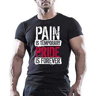 SCHMERZEN & PRIDE HERREN FITNESS-MOTIVATION GOKU BODYBUILDING T-Shirt