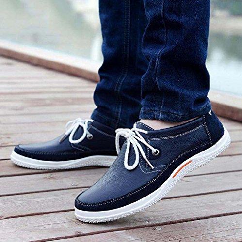 ZXCV Scarpe all'aperto Scarpe da uomo scarpe casual comode scarpe in pizzo scarpe da uomo in pelle Blu