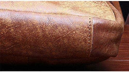 DRF Borsa in Pelle di bufalo singola spalla zaino per viaggio sportivo #BG193 Cachi