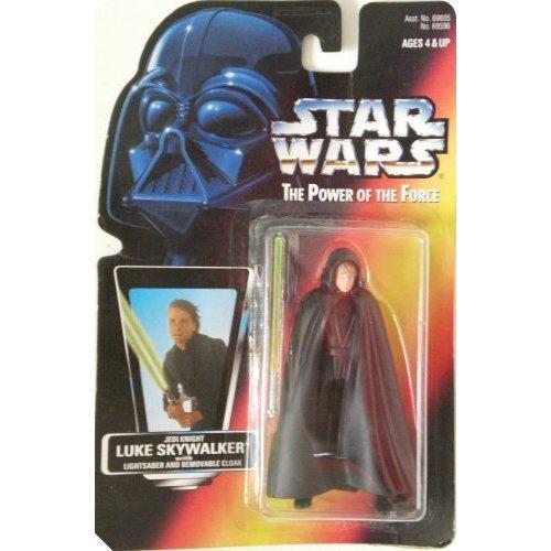 Kenner Star Wars 1996POTF2rote Karte Luke Skywalker Jedi mit Braun Weste Variant Moc Braun Moc