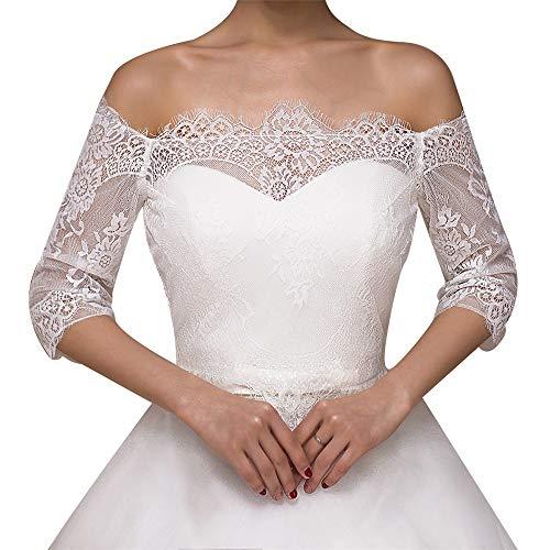 Shrug in pizzo da sposa lo scialle del capo del pizzo degli scialli nuziali dello scialle nuziale nuziale bianco d'avorio dell'estate e della sposa per la festa nuziale per la decorazione del vestito