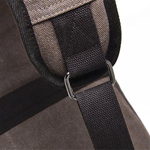 Umhängetasche Outdoor Schleuder Tasche Brust Segeltuch-Riemen-Beutel-Kasten-Beutel-Satz-Kurier-Beutel für Mann-Frauen-im Freienwandern des Fahrrades Braun