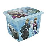 keeeper Frozen Aufbewahrungsbox mit Deckel, 39 x 29 x 27 cm, 20,5 l, Filip, Blau Transparent