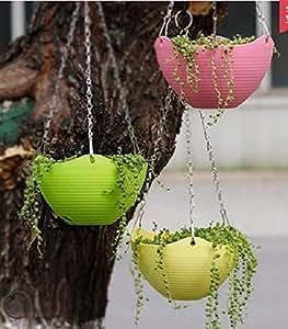 aoxintek Hanging Vasi di fiori giardino balcone Cestino pensile per piante, da balcone, Home Decor confezione da 2