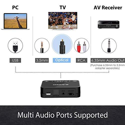 2018 Avantree HT4189 Kabellose Kopfhörer für Fernseher mit Bluetooth Transmitter, Unterstützt Optisch, RCA, 3.5mm AUX, PC USB Audio, Plug & Play, No Delay, 30m HOHE REICHWEITE 40 Std. Akku - 3