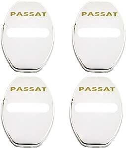 For Volkswagen VW PASSAT B4 B5 B6 B7 B8 CC R36 Stainless Steel Door Lock Striker Cap Auto Protection Accessories N//A 4Pcs Car Styling Door Lock Cover