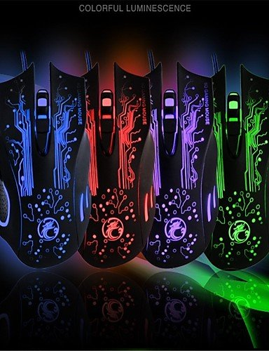 Fuda X9Gaming Maus 6programmierbare Tasten bis zu 2400DPI USB 3.0Kabel für PC Spiele Omron Micro Schalter