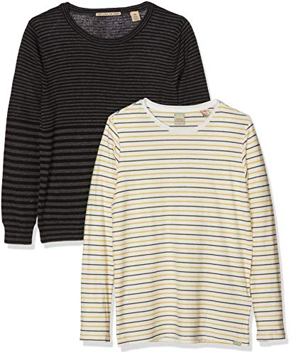 Scotch & Soda Shrunk Jungen Pullover 2-in-1 Style: Crew Neck Pull with Inner Tee, Mehrfarbig (Combo A 217), 152 Papillon T-shirt Sweatshirt