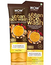 WOW Skin Science Face Wash with Chickpea Flour Turmeric Saf
