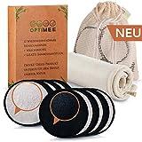OPTIMEE 12 Waschbare Abschminkpads | Inkl. GRATIS Bambushandtuch & Wäschebeutel aus 100% Baumwolle...
