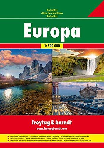 Europa, atlas de carreteras. Escala 1:700.000. Freytag & Berndt.