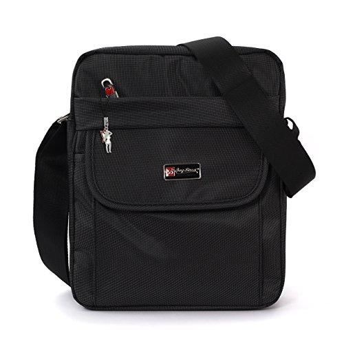 Bag Street Umhängetasche Crossover Schultertasche Polyester schwarz OTJ253S