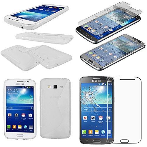 ebestStar - kompatibel Samsung Galaxy Grand 2 Hülle G7105 G7102 G7100 TPU S-line Style Silikon Handyhülle, Schutzhülle Case Cover, Transparent +Panzerglas Schutzfolie [Phone: 146.8x75.3x8.9mm 5.25