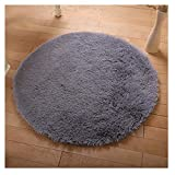 FUT FUT Anti-Skid Shaggy Area Rug Oval Braided Rug Fluffy Rugs Multi Colors Carpet Floor Mats Best for Dining Room Home Bedroom Floor Decoration & Baby Child Kids Playing