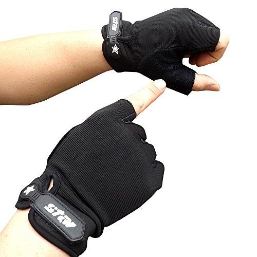 Herren Handschuhe Fingerlose Fingerhandschuhe Fundamental Winter Outdoor Fitness Sport Fahrhandschuhe Laufhandschuhe XXYsm Schwarz M