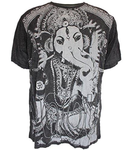 Yoga Shirts - Omtimistic Uomo indù Ganesh 'di elefante Dio E di Om Symbol' Maglietta - Large