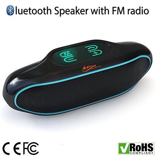 iFox IFS309 - Bluetooth-Lautsprecher mit FM-Radio-Tuner, AUX & USB-Anschluss, Freisprechfunktion - Kompatibel mit SD & NFC - Für iPhone, iPad, Android-Geräte oder Computer - Toller Bass