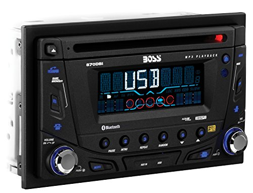 BOSS AUDIO 870DBI Autoradio (abnehmbare Vorderseite, Double DIN, MP3, CD, AM/FM Receiver)