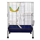 Pawhut Rabbit Guinea Pig Chinchilla Hutch House Run Cage Box 80(L) X 108(H)