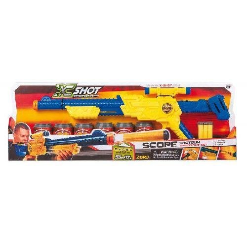 Grandi Giochi GG46014 - X-Shot Fucile, 6 Lattine, 6 Dardi