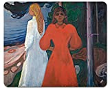1art1 106045 Edvard Munch - Rot und Weiß, 1899–1900 Mauspad 23 x 19 cm