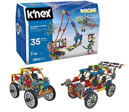 K'NEX 33202 - Building Set - 35 Model Koffer - 480 Pieces - 7+ - Bau- und Konstruktionsspielzeug