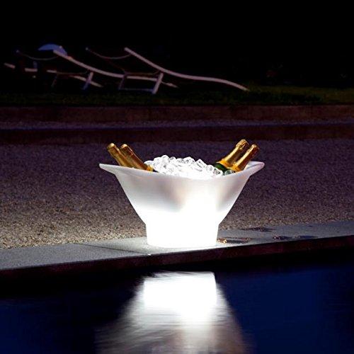 Cubitera champagne led, multicolor recargable...