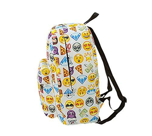 Imagen de samgu bolso de hombro del estilo del emoji  bolsa de viaje al aire libre color blanco alternativa