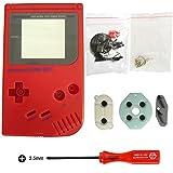 iMinker Full Gehäuse Shell Pack Fall Deckung Ersatzteile mit offenen Tools für Nintendo Gameboy GB Konsole (Rot) -