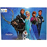 Jenil International 204 Pcs Wooden Multi Cartoon Characters Wooden Frame For Kids (Frozen Ice Princess)