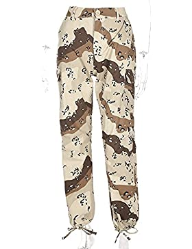 Pantaloni da donna con pantaloni mimetici a matita mimetica mimetica