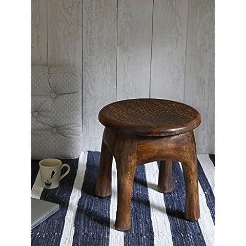 Store Indya, Estilo Vintage Tabla elefante soporte de madera al aire libre portable Interiores Sala Patio Decoracion de